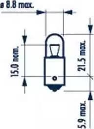Narva 17131 - Bulb, door footwell light detali.lv
