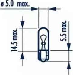 Narva 17073 - Bulb, door footwell light detali.lv