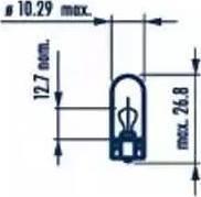 Narva 17097 - Bulb, door footwell light detali.lv