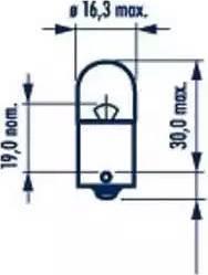 Narva 17311 - Bulb, door footwell light detali.lv