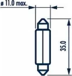 Narva 17125 - Bulb, door footwell light detali.lv