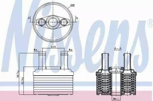 Nissens 90664 - Oil Cooler, automatic transmission detali.lv