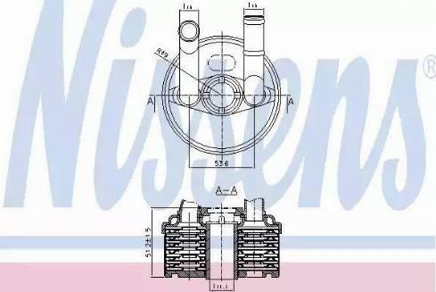 Nissens 90666 - Oil Cooler, automatic transmission detali.lv