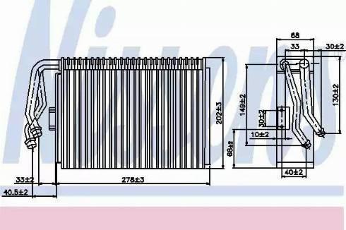 Nissens 92097 - Evaporator, air conditioning detali.lv