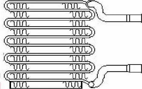 Nissens 92017 - Evaporator, air conditioning detali.lv