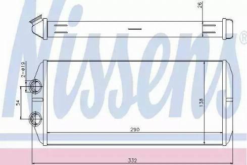 Nissens 71164 - Heat Exchanger, interior heating detali.lv