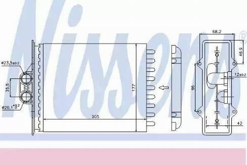 Nissens 72657 - Heat Exchanger, interior heating detali.lv
