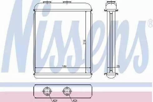Nissens 72662 - Heat Exchanger, interior heating detali.lv