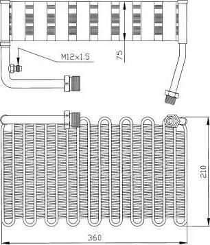 NRF 36007 - Evaporator, air conditioning detali.lv