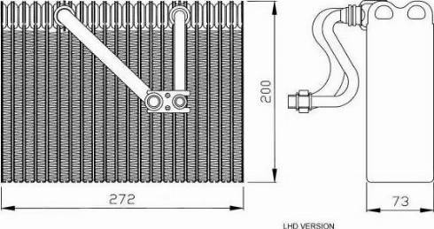 NRF 36088 - Evaporator, air conditioning detali.lv