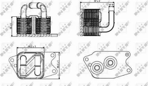 NRF 31265 - Oil Cooler, automatic transmission detali.lv