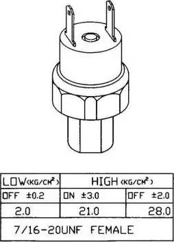 NRF 38919 - Pressure Switch, air conditioning detali.lv