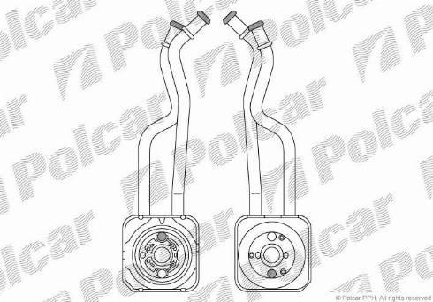 Polcar 9541L82 - Oil Cooler, manual transmission detali.lv