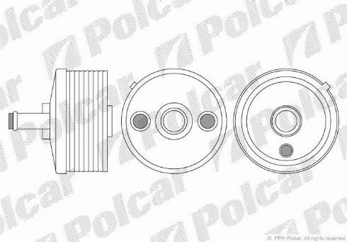 Polcar 9513L82 - Oil Cooler, automatic transmission detali.lv