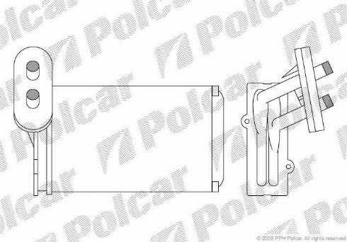 Polcar 9534N8A1 - Heat Exchanger, interior heating detali.lv