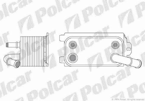Polcar 9071L81 - Oil Cooler, automatic transmission detali.lv