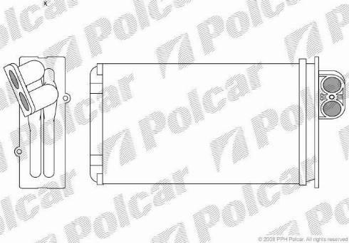 Polcar 5745N81 - Heat Exchanger, interior heating detali.lv