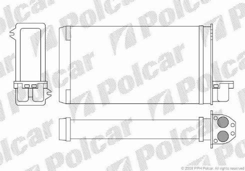 Polcar 5722N81 - Heat Exchanger, interior heating detali.lv
