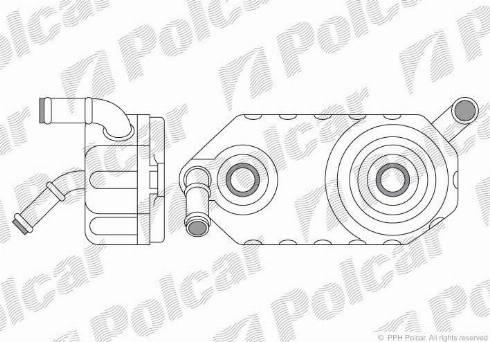 Polcar 6713L81 - Oil Cooler, automatic transmission detali.lv