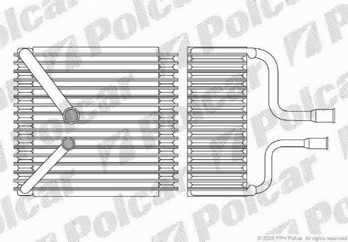 Polcar 3216P81 - Evaporator, air conditioning detali.lv