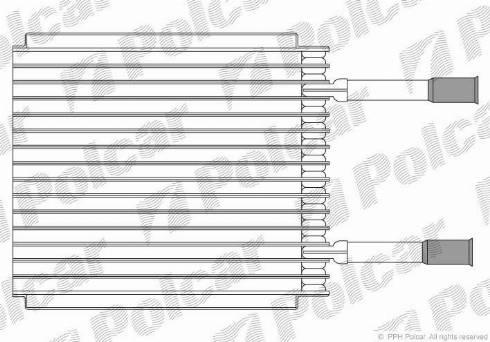 Polcar 3210P81 - Evaporator, air conditioning detali.lv