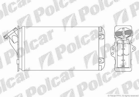 Polcar 2304N84 - Heat Exchanger, interior heating detali.lv