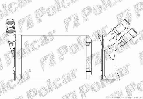 Polcar 2324N82 - Heat Exchanger, interior heating detali.lv