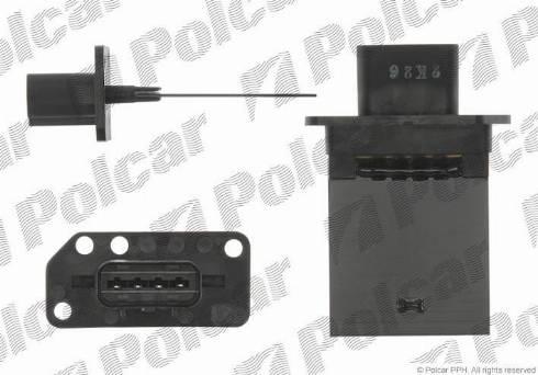Polcar 2782KST1 - Control Element, heating/ventilation detali.lv