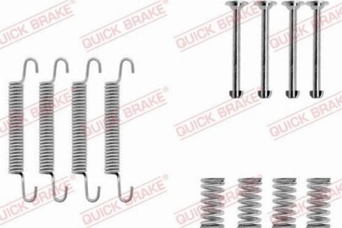 QUICK BRAKE 1050667 - Accessory Kit, parking brake shoes detali.lv