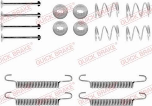 QUICK BRAKE 1050791 - Accessory Kit, parking brake shoes detali.lv