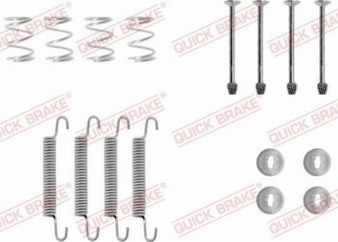 QUICK BRAKE 1050711 - Accessory Kit, parking brake shoes detali.lv