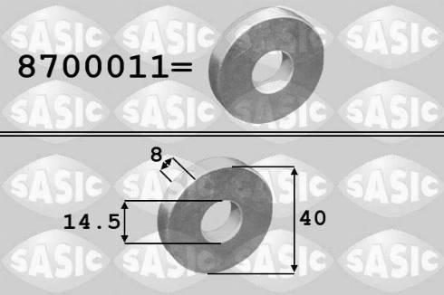 Sasic 8700011 - Washer, crankshaft pulley detali.lv