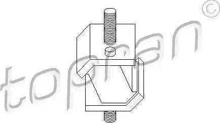 Topran 500010 - Mounting, automatic transmission detali.lv