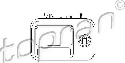 Topran 109077 - Glove Compartment Lock detali.lv