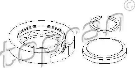 Topran 100087 - Repair Kit, automatic transmission flange detali.lv