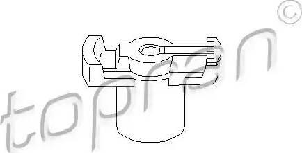 Topran 101047 - Rotor, distributor detali.lv