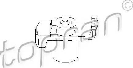 Topran 101018 - Rotor, distributor detali.lv