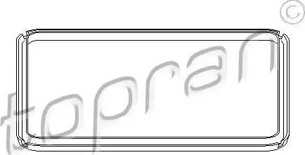 Topran 108756 - Seal, automatic transmission oil pan detali.lv