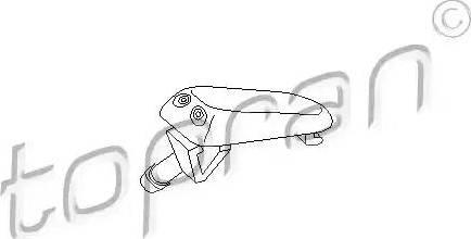 Topran 102968 - Washer Fluid Jet, windscreen detali.lv
