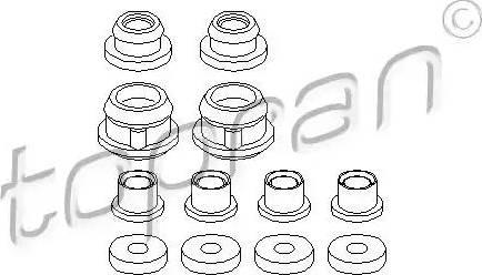 Topran 102649 - Repair Kit, gear lever detali.lv