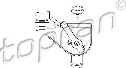 Topran 102654 - Control Valve, coolant detali.lv