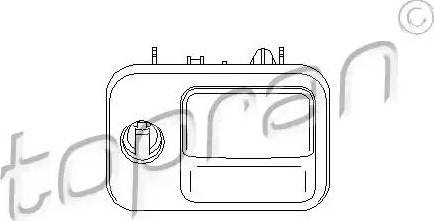 Topran 110668 - Glove Compartment Lock detali.lv
