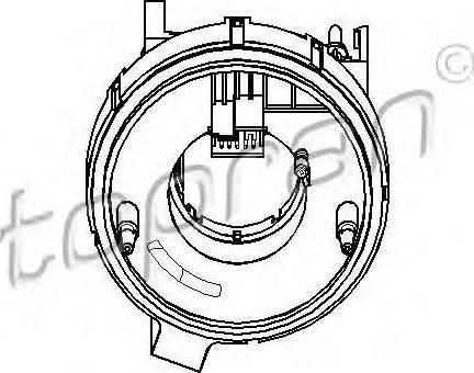 Topran 112409755 - Steering Angle Sensor detali.lv