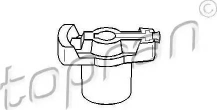Topran 300124 - Rotor, distributor detali.lv