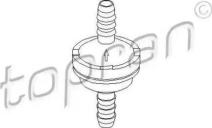 Topran 206111 - Valve, brake booster detali.lv