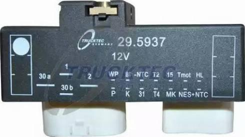 Trucktec Automotive 0742090 - Control Unit, electric fan (engine cooling) detali.lv