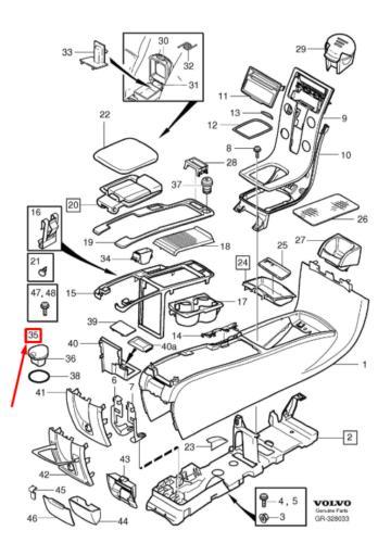 Volvo 8635153 - Ashtray detali.lv